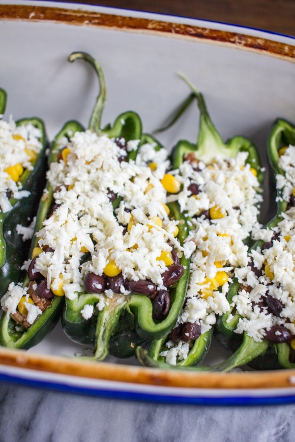 Beef Stuffed Poblano Peppers - my favorite quick dinner recipe.