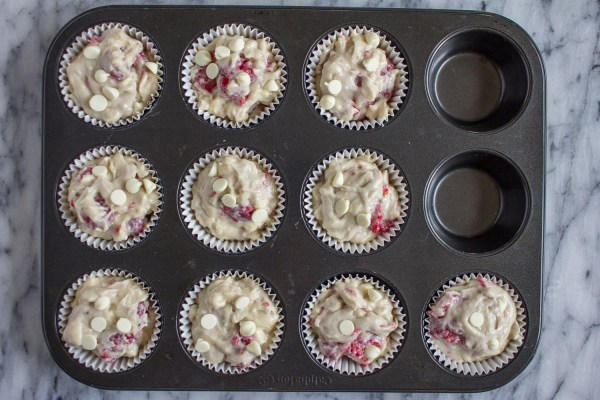 How to Make Bakery Style Raspberry White Chocolate Muffins