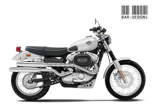 Harley Davidson 883 Scrambler By Luca Bar