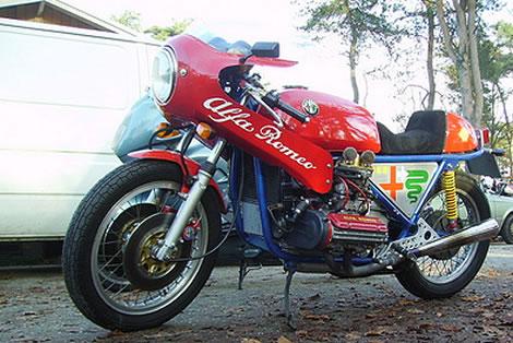 Alfa Romeo boxer powered motorcycle