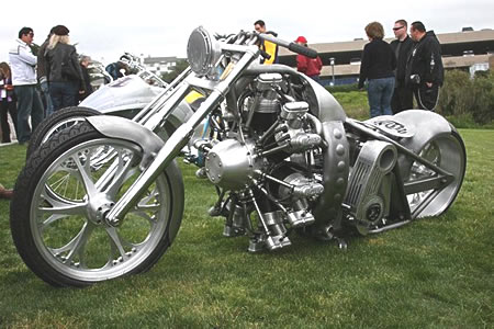 Radial engine powered motorcycle