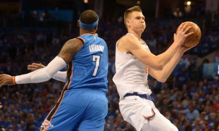 Knicks Film Study: Kristaps Porzingis defense on Carmelo Anthony