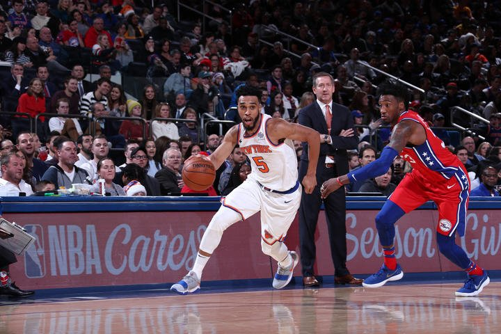 Knicks Lose 105-98 to Sixers on Christmas Day