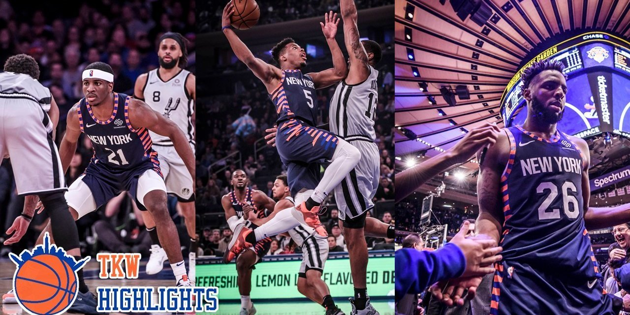 TKW Highlights: Damyean Dotson Goes Off Again, Dennis Smith Jr. and Mitchell Robinson Chip in vs. Spurs