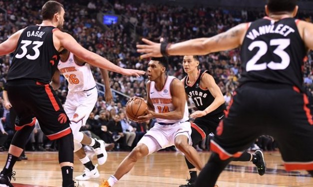 Raptors Kick Collective Knicks Tuchus in Toronto Blowout