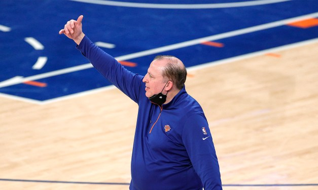 Tom Thibodeau Accepts Coach of the Year Honor on Behalf of the Team