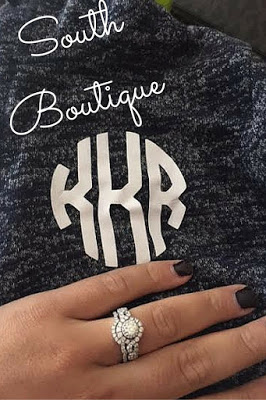 Monogram with jacket wedding ring