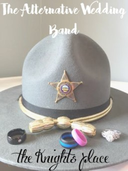 Alternative wedding band police ring