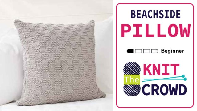 Knit Beachside Pillow - Basketweave