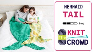 Knit Mermaid Tail for Adults and Children
