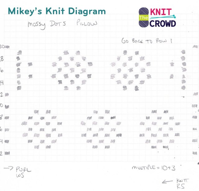 Knit Mossy Dots Knit Diagram