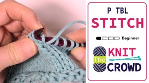 Purl Together in the Back Loop - P TBL