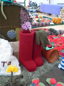 Knitted wellies
