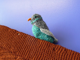 Bird knitted by Pauline Stanley