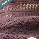 Twin Leaf Knitted Baby Blanket Free Knitting Pattern