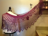 Dragonfruit Shawl in a gradient by Mamalaw on Ravelry