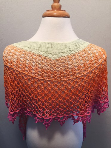 Dragonfruit Shawl in Jazz Handz Fusion Fiberby nikkifox81 on Ravelry