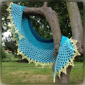 Dragonfruit Shawl in a combination of solids by tintocktap on Ravelry