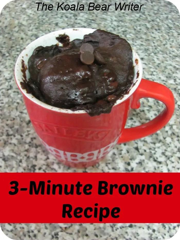 5-minute brownie recipe