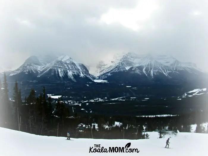Skiers at Lake Louise Ski Hill in Alberta