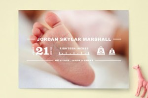 Beautiful Birth Announcements from Minted.com