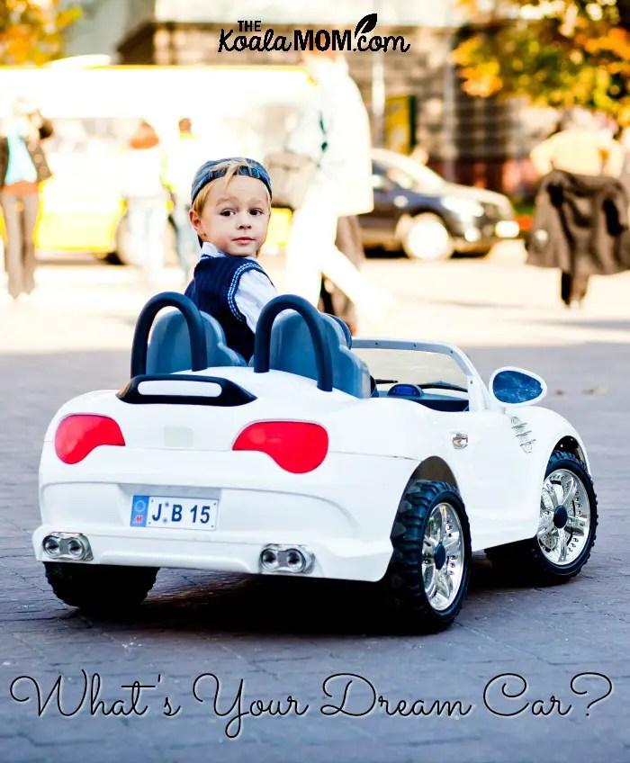 What's your dream car? (cute boy in a mini BMW convertible)