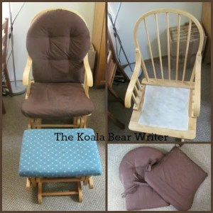 Re-upholster Glide Rocking Chair and Stool (a diy project)