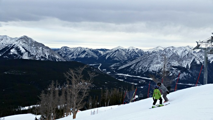 The top of the mountain at Nakiska Ski Resort, where we went downhill skiing after Christmas