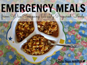 Wise Company Delivers Delicious Emergency Meals