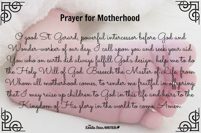 Prayer for Motherhood to St. Gerard Majella, patron saint of expectant mothers and childbirth.