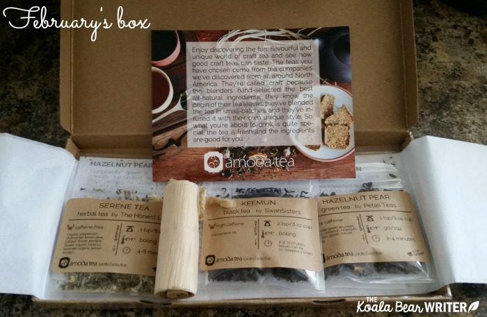 February's tea box from Amoda Teas