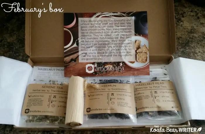 February's tea box from Amoda Teas