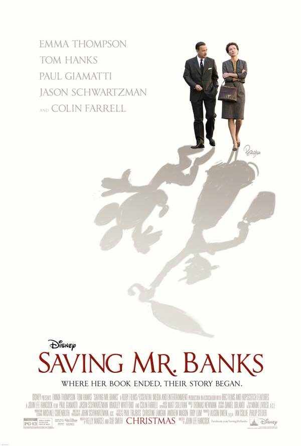 Saving Mr. Banks - one of my favourite father-daughter movies