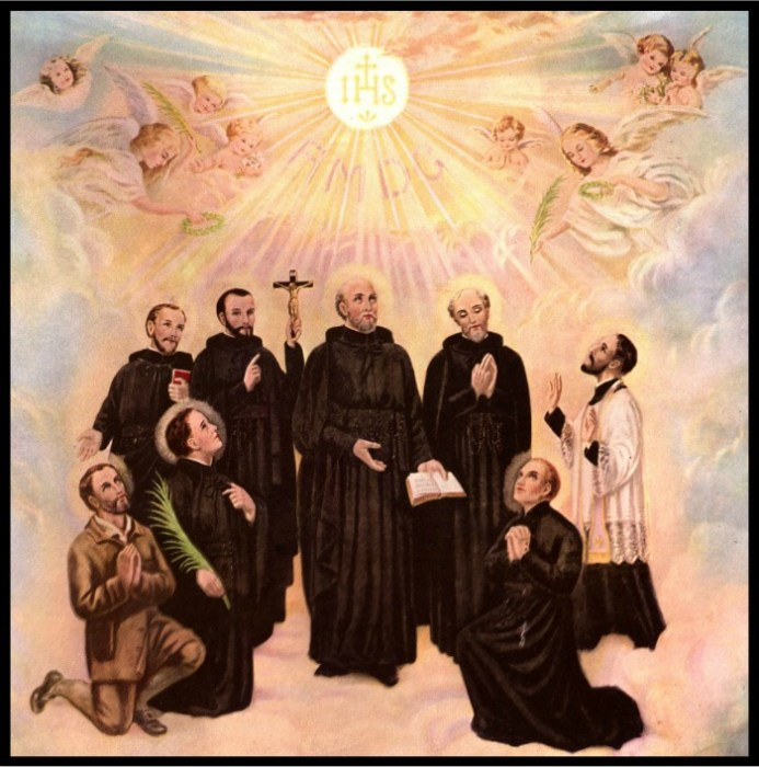 The Canadian Martyrs: Noel Chabanel, Isaac Jogues, Rene Goupil, etc.