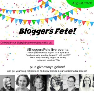 Save the Date: August Bloggers Fete (and giveaway!)