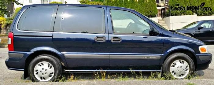 Blue Chevrolet Venture minivan