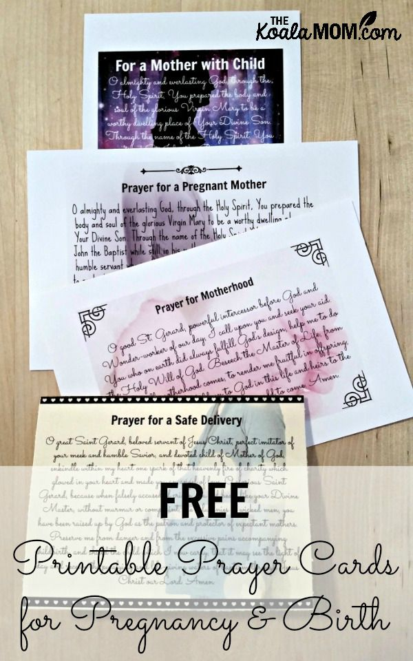 Free Printable Prayer Cards for Pregnancy and Birth