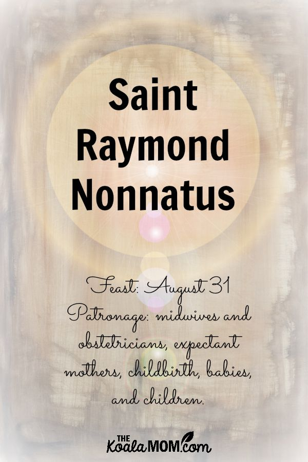 St raymond nonnatus prayer card