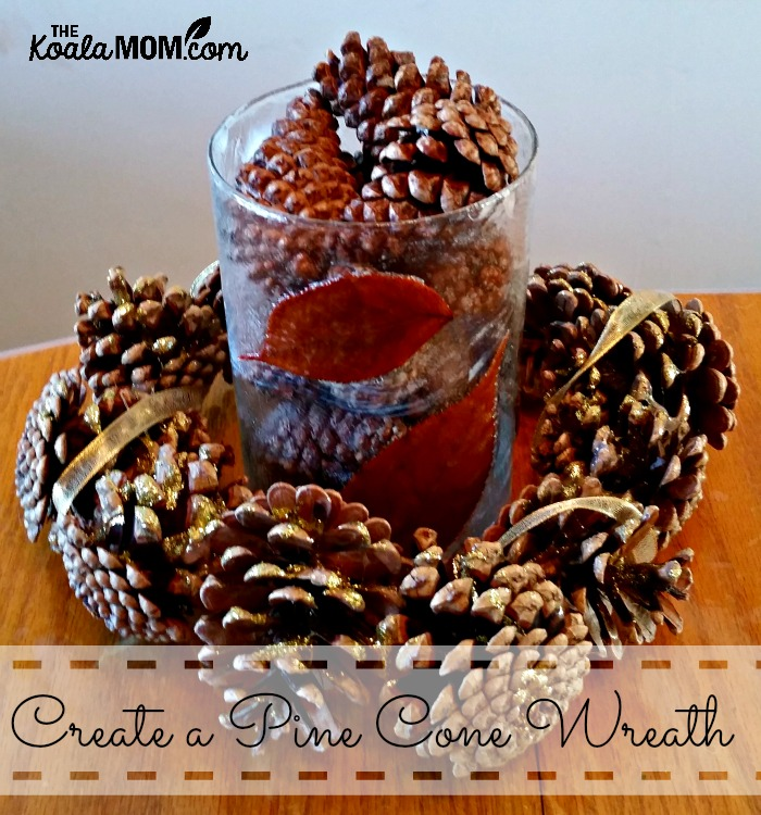 Create a pine cone wreath