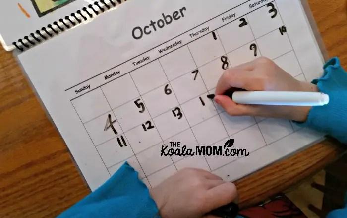 Sunshine adding dates to October