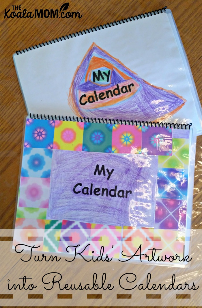 Turn Kids' Old Artwork into Reusable Calendars
