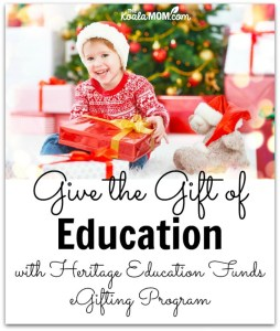 Give the Gift of Education with Heritage Education Funds