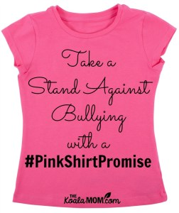 Take a Stand Against Bullying with a #PinkShirtPromise