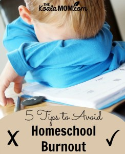 5 Tips to Avoid Homeschool Burnout
