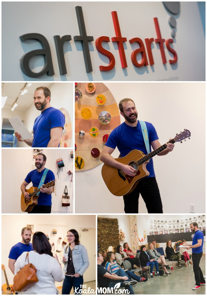 Will Stroet's CD media party at Art Starts Gallery in Vancouver