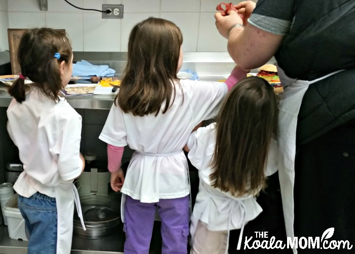 Four cooks in the kitchen