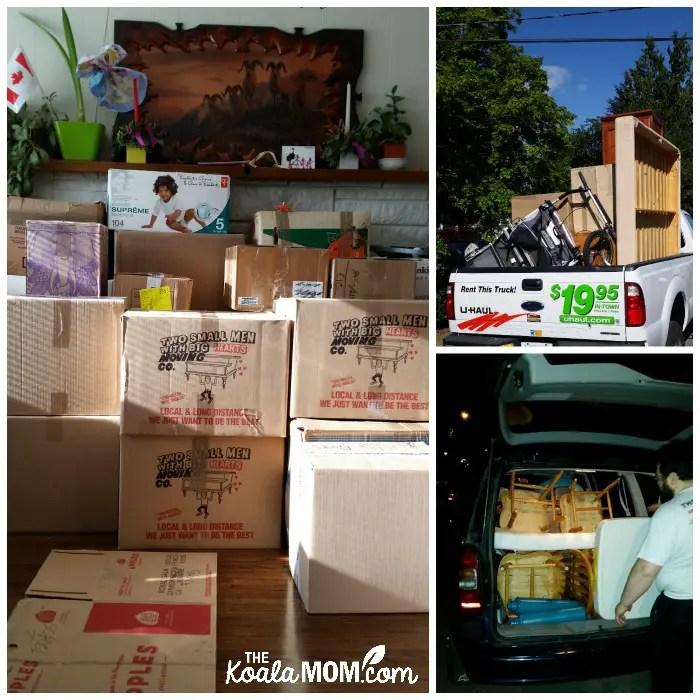 Moving boxes, moving trucks