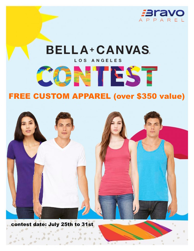 July Facebook tagline contest for Bravo Apparel