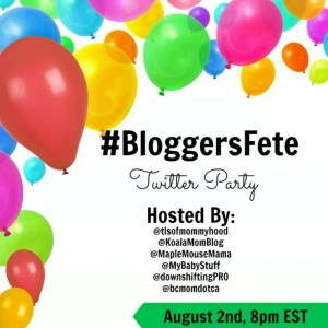 RSVP for the #BloggersFete 2016 Twitter Party!