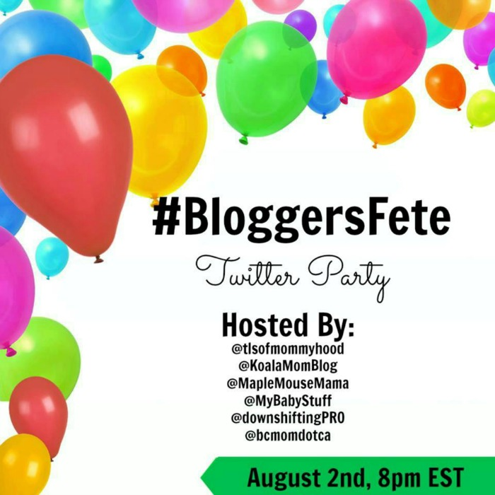 Bloggers Fete Twitter Party RSVP